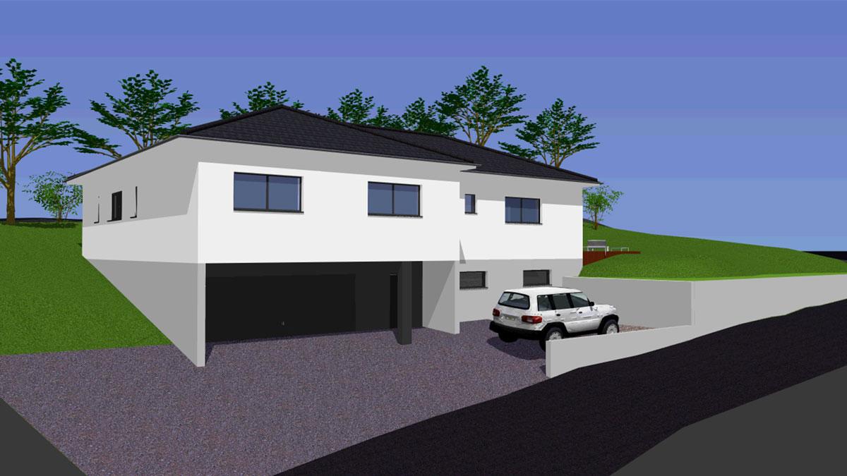 maison plain pied avec sous sol. Black Bedroom Furniture Sets. Home Design Ideas