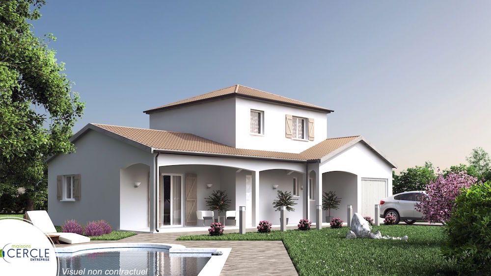 maison plain pied avec tour centrale
