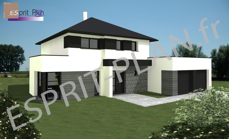 maison plain pied basse consommation. Black Bedroom Furniture Sets. Home Design Ideas