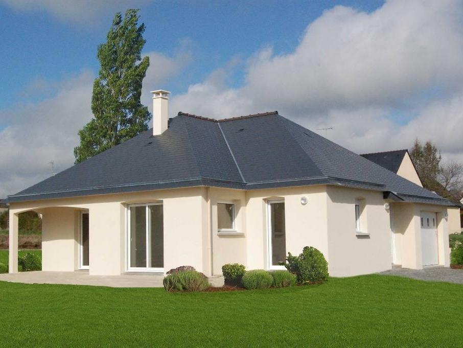 Maison plain pied contemporaine bretagne for Maison neuve construction