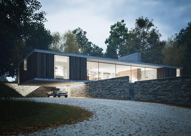 Maison plain pied design for Maison architecte design
