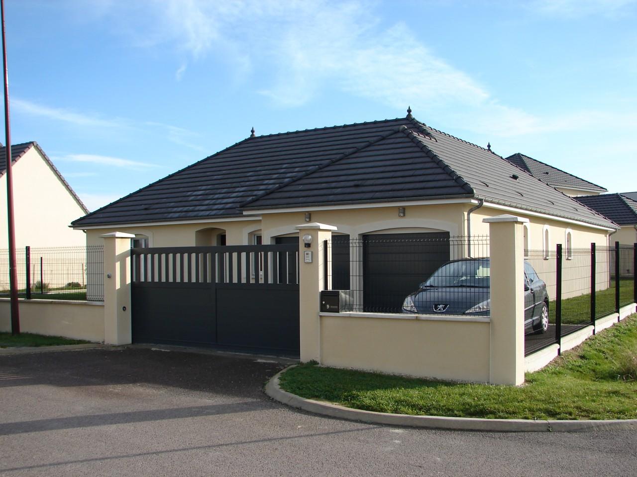 maison plain pied double garage