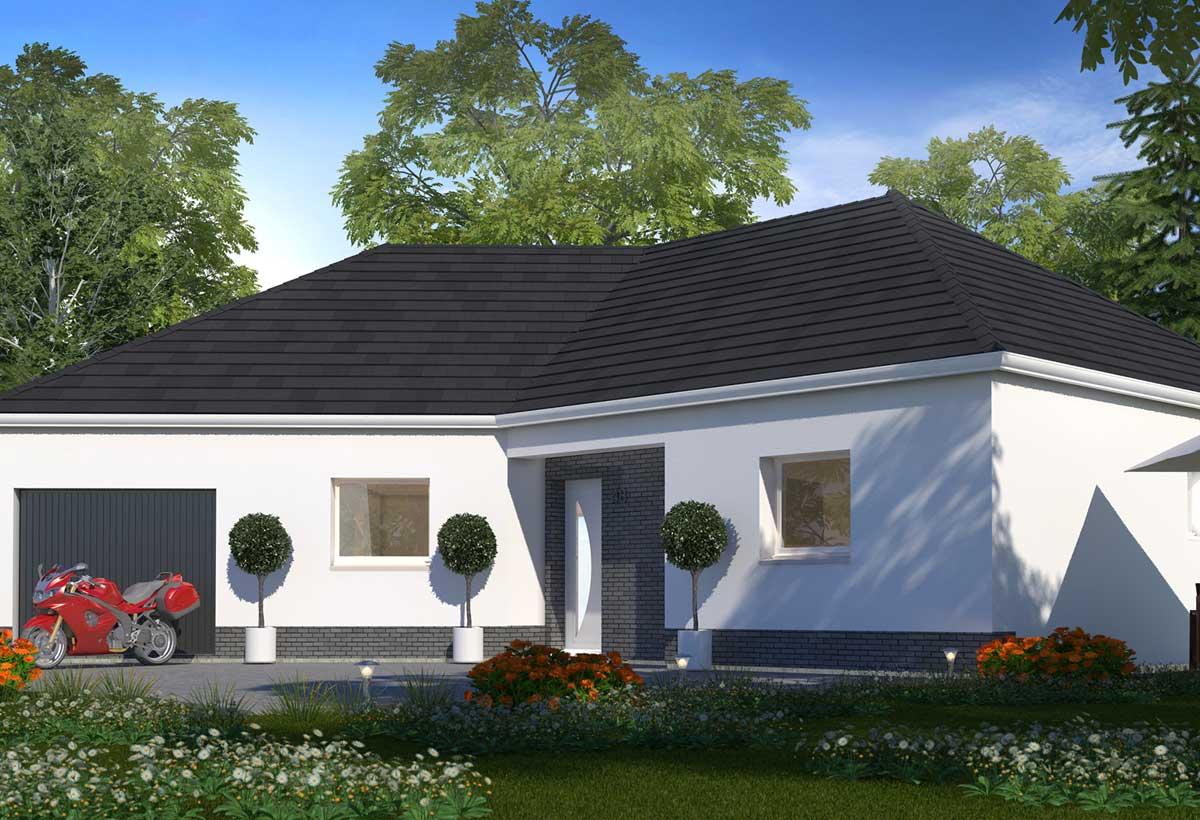 maison plain pied habitat concept