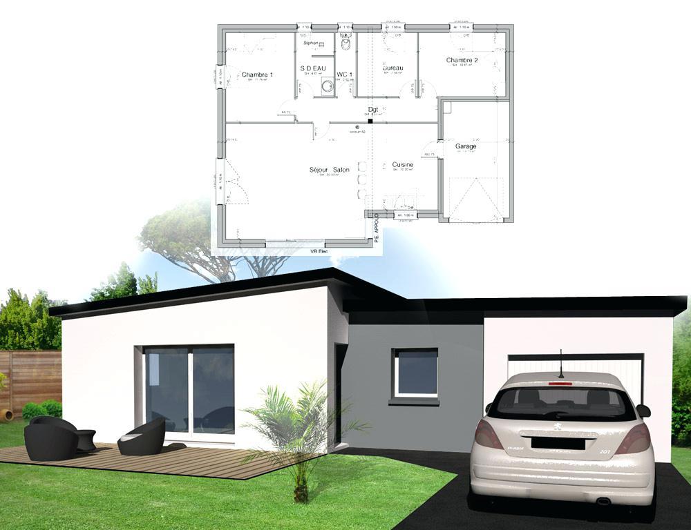 maison plain pied kervran. Black Bedroom Furniture Sets. Home Design Ideas
