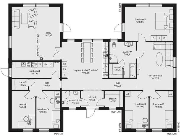 maison plain pied ou r 1. Black Bedroom Furniture Sets. Home Design Ideas