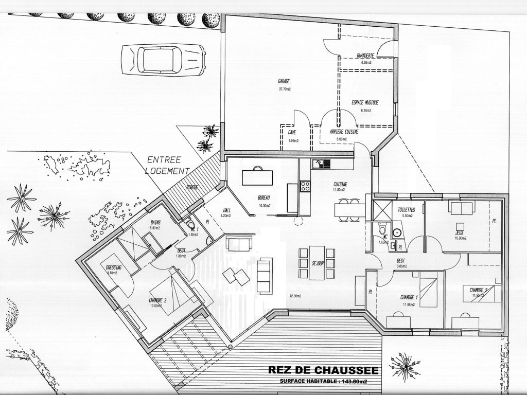 maison plain pied plan gratuit