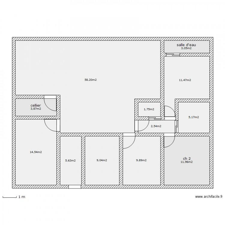 maison plain pied rectangulaire 130m2. Black Bedroom Furniture Sets. Home Design Ideas