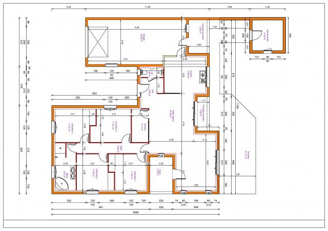 Maison plain pied rectangulaire 130m2 - Maison de 130m2 ...
