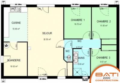 Plan Maison Plain Pied 3 Chambres 110m2 Sans Garage
