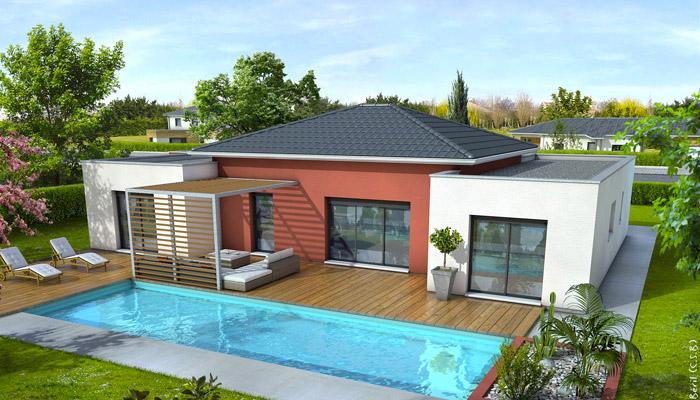 Maison De Plain Pied Moderne. Trendy La Maison Plain Pied Moderne ...