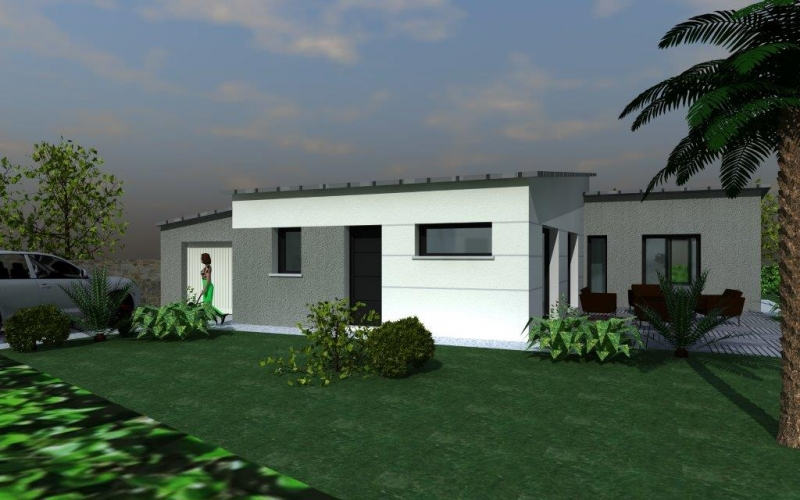 maison plain pied zinc. Black Bedroom Furniture Sets. Home Design Ideas