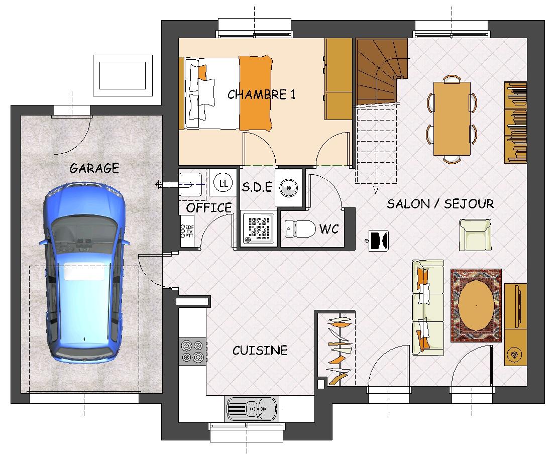 constructeur maison 1 chambre