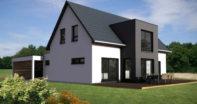 constructeur maison 2 pans