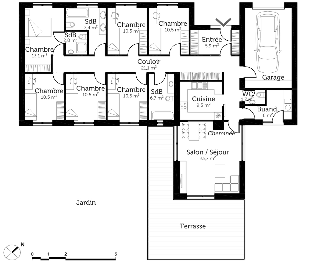 constructeur maison 6 chambres