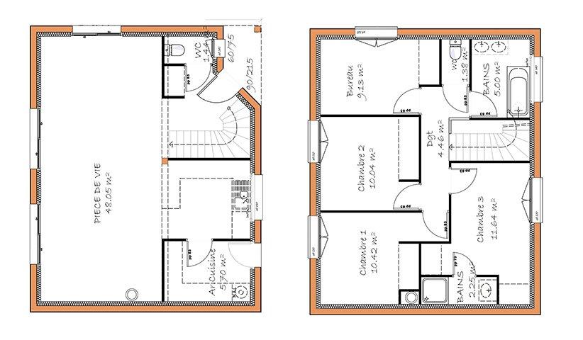 Moderne maison etage 120m2 TQ-12