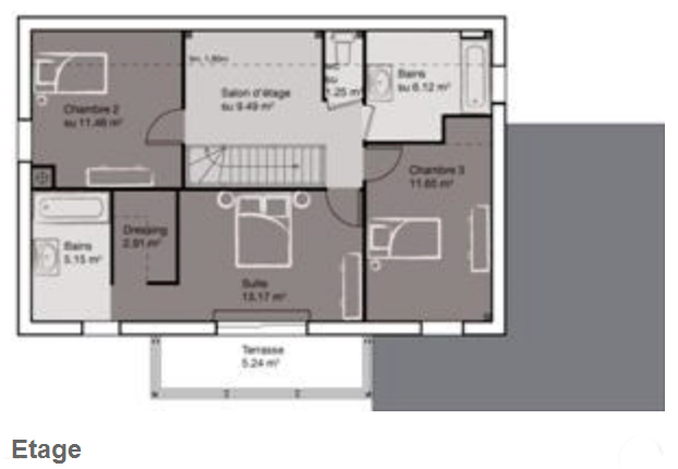 maison etage 130 m2