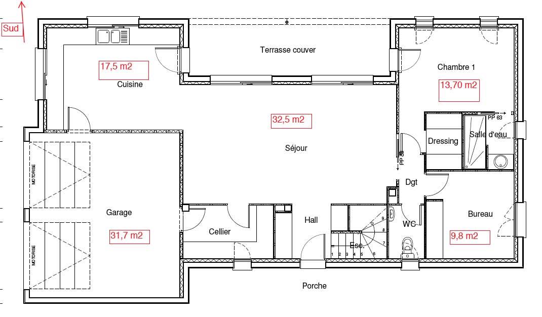 maison etage 130m2