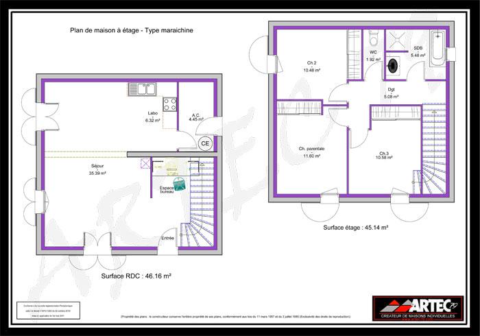 Remarquable maison etage 75m2 DS-77