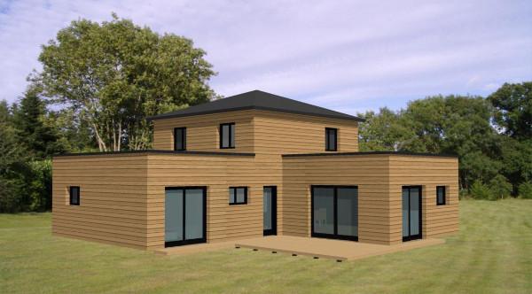maison etage en bois