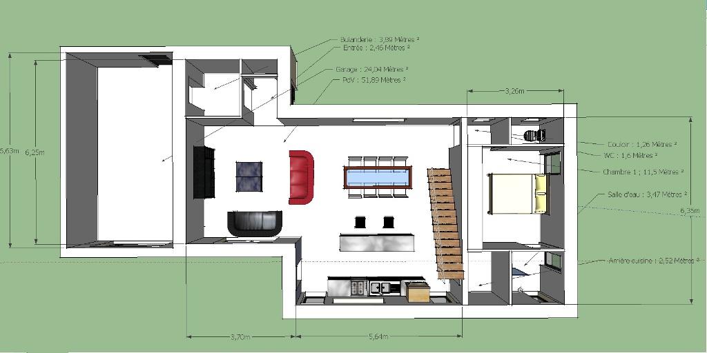 maison etage partiel