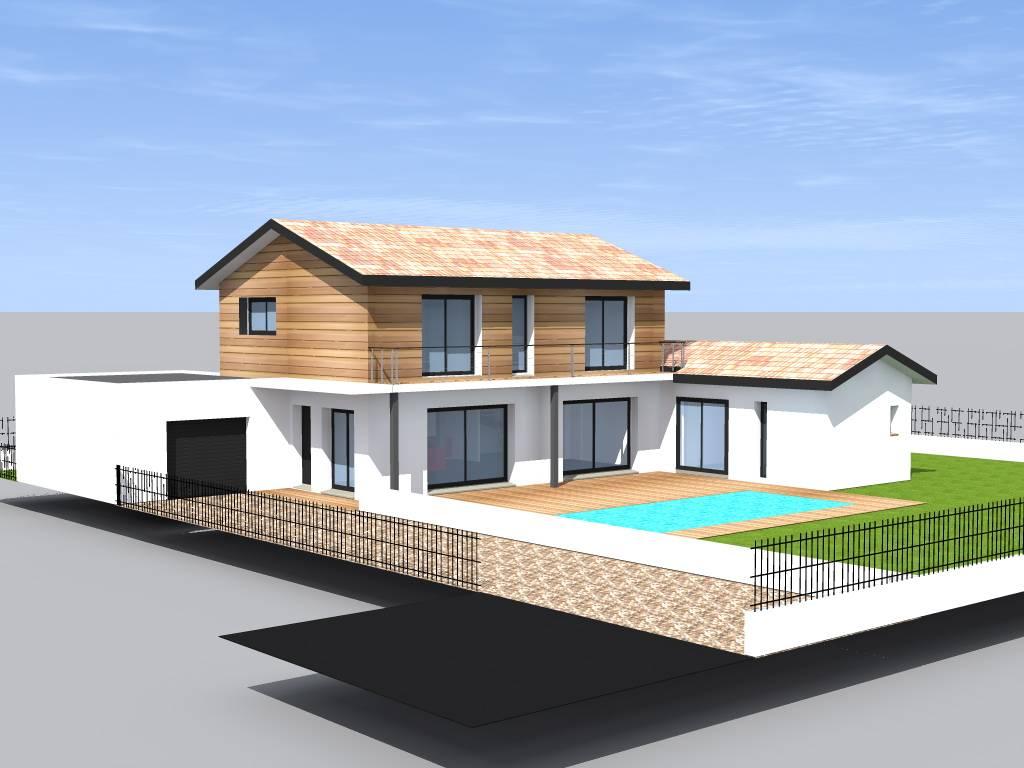 maison etage piscine