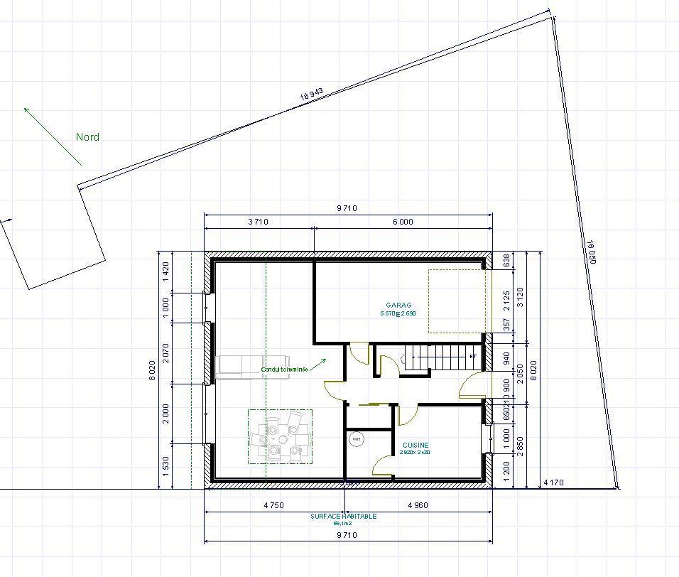 maison etage sur petit terrain
