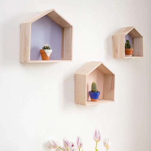 maison etagere bois