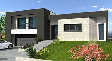 maison moderne 2 niveaux