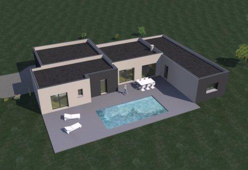maison moderne 4 chambres plain pied
