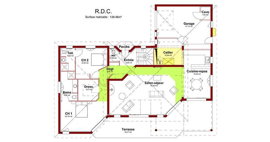 maison moderne 5 chambres