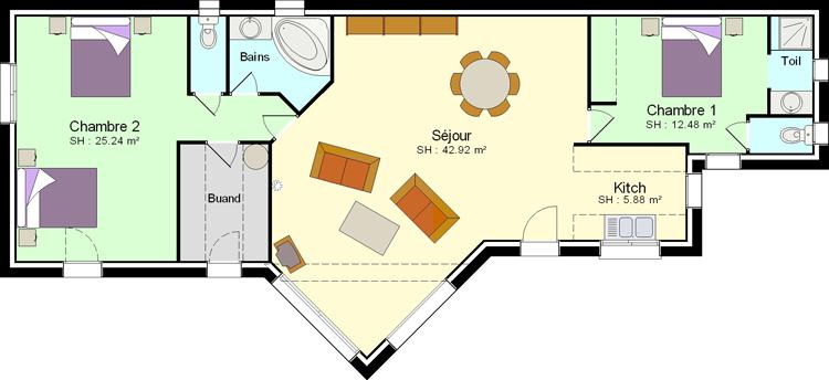 maison moderne 50m2