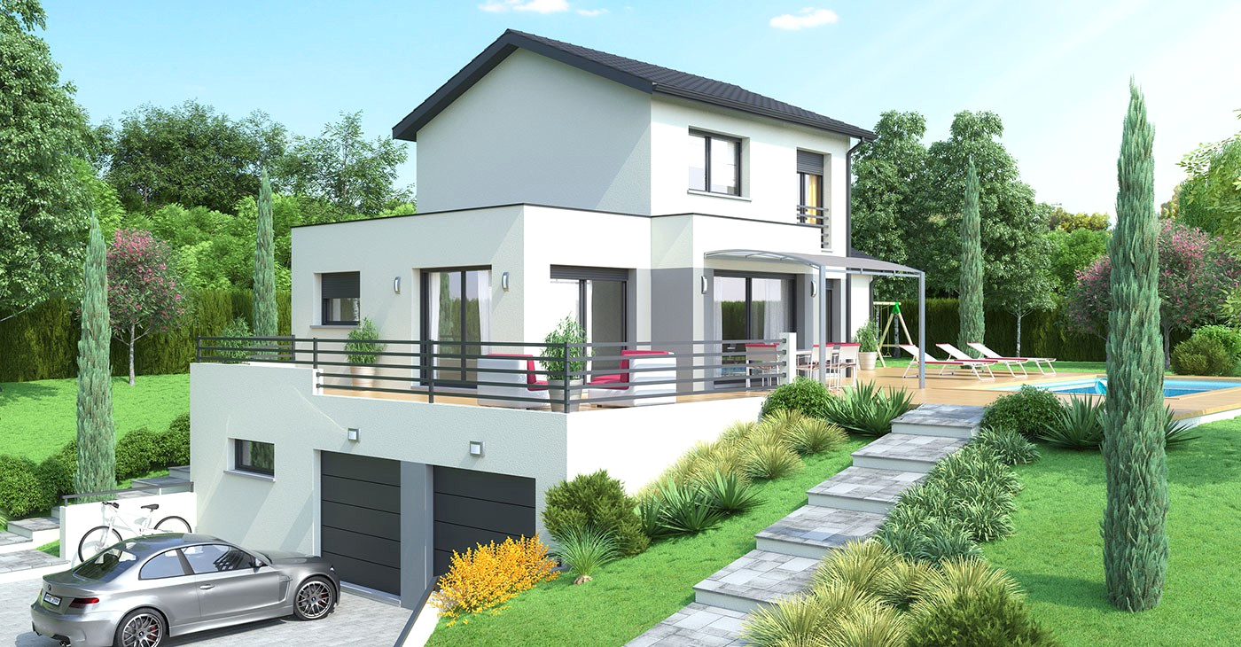 maison moderne 86
