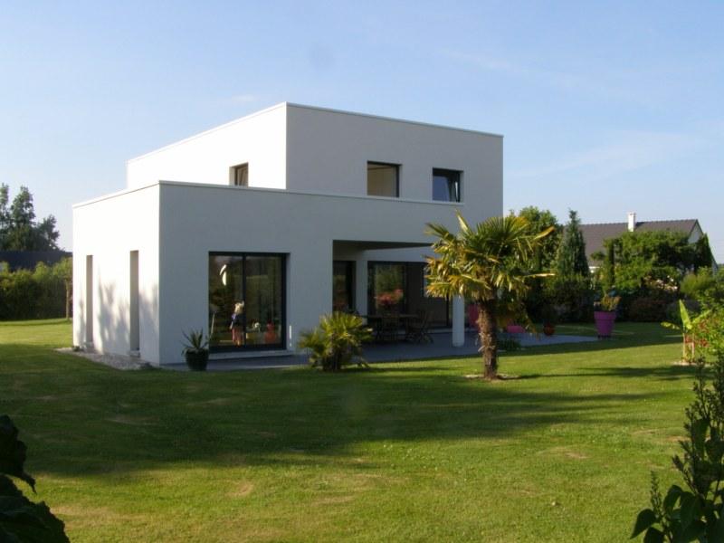 maison moderne a toit plat