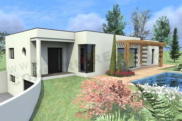 maison moderne avec sous sol