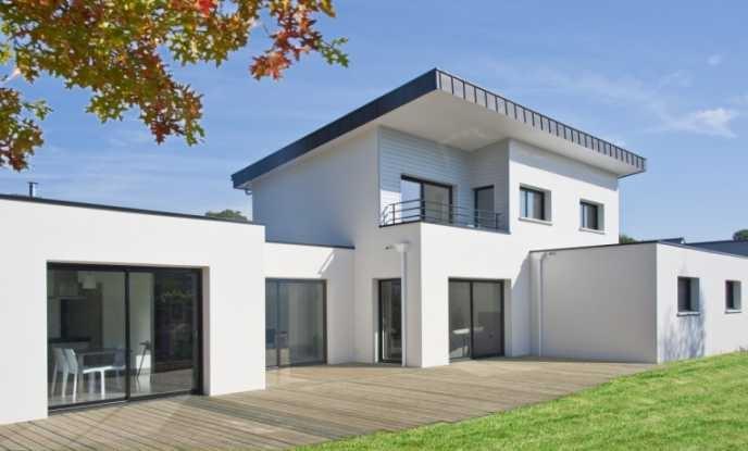 maison moderne avec toit zinc
