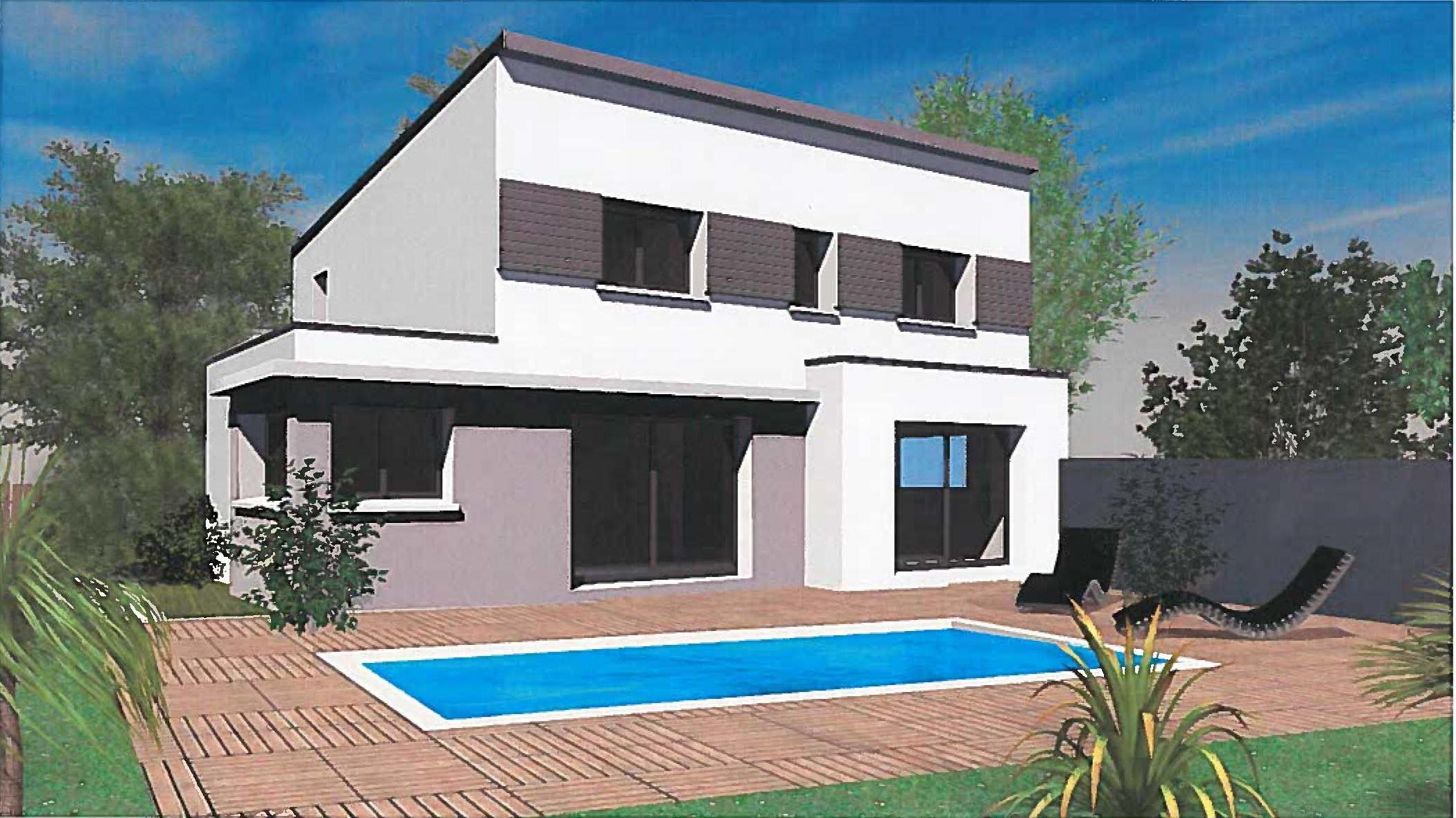 maison moderne bi couleur