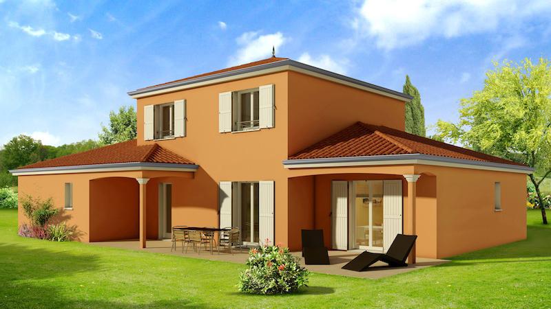 maison moderne couleur