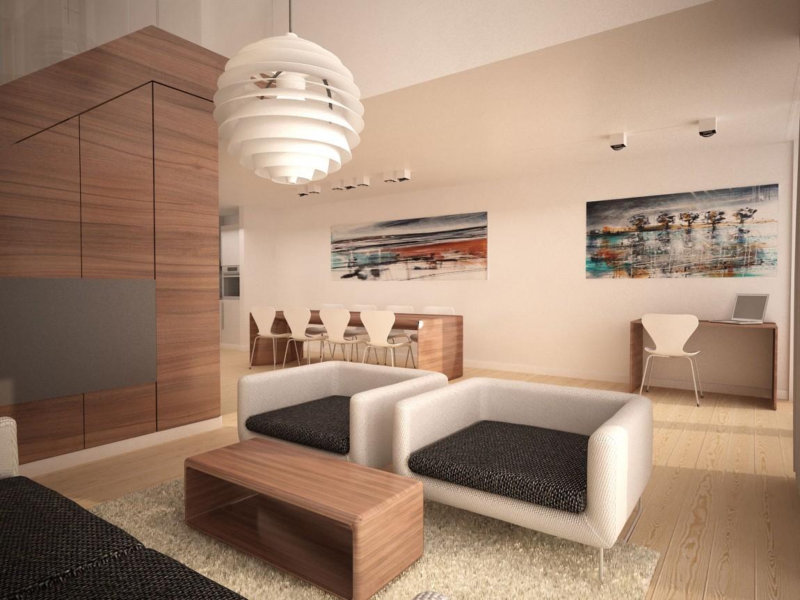 maison moderne et chaleureuse