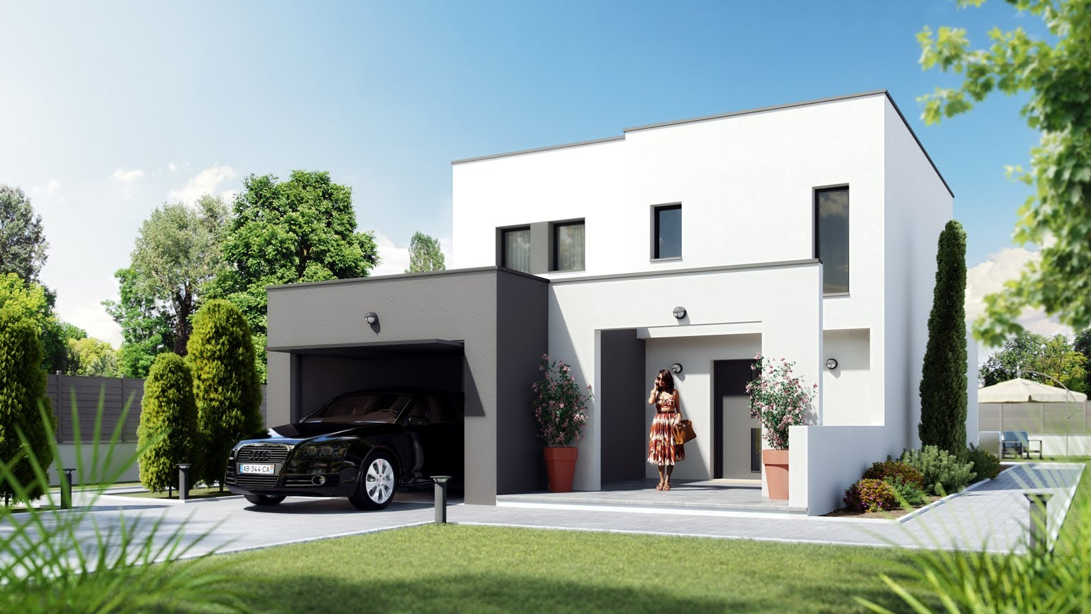 maison moderne francaise