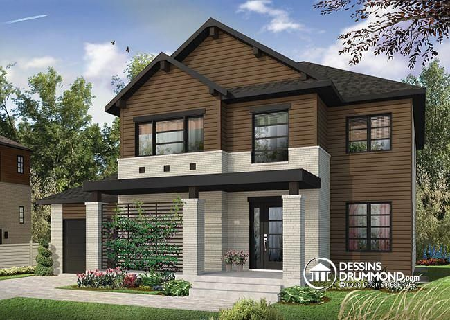 maison moderne garage double