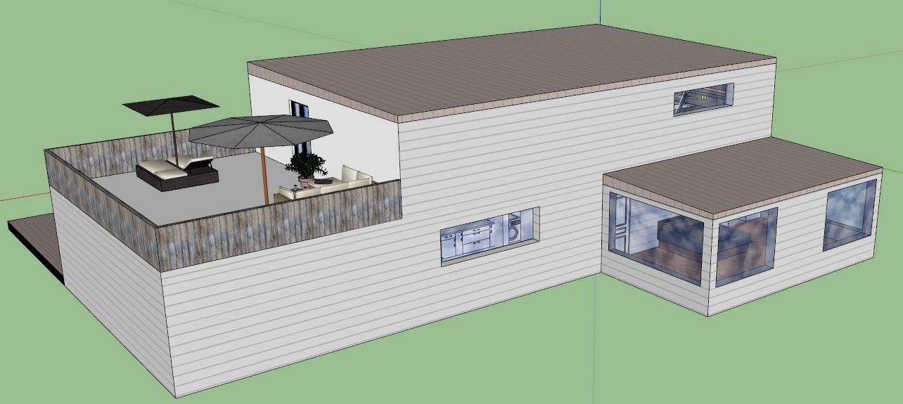maison moderne google sketchup