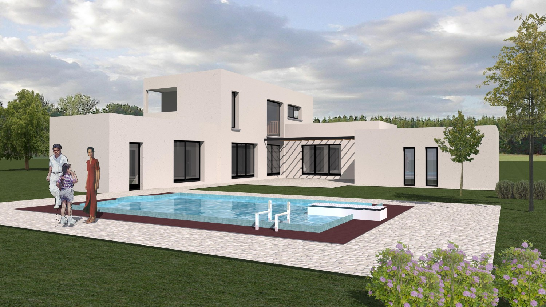 maison moderne grande