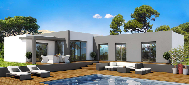 maison moderne landes