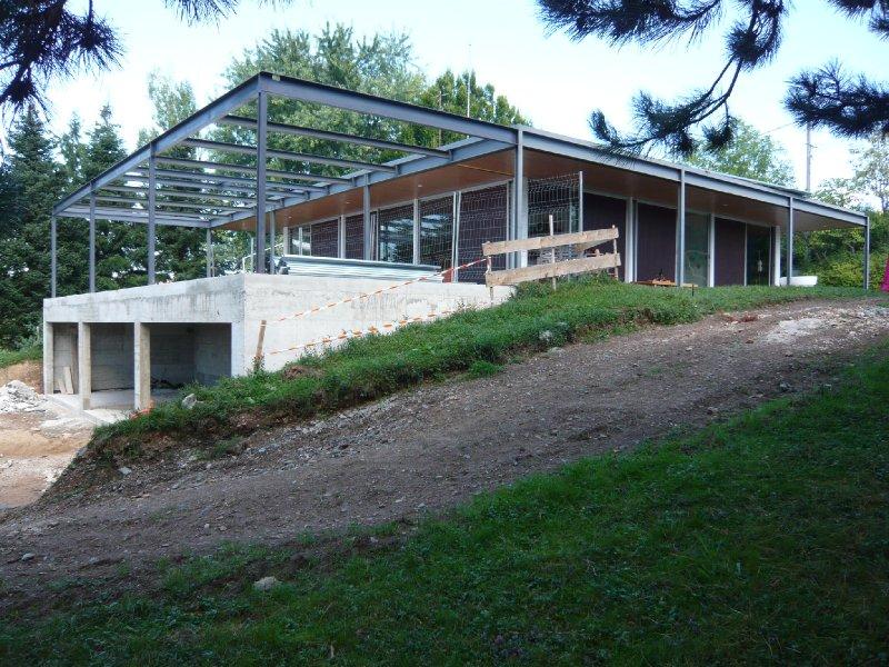 maison moderne ossature metallique