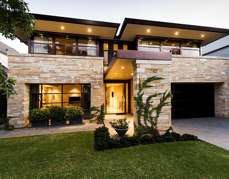 maison moderne pierre