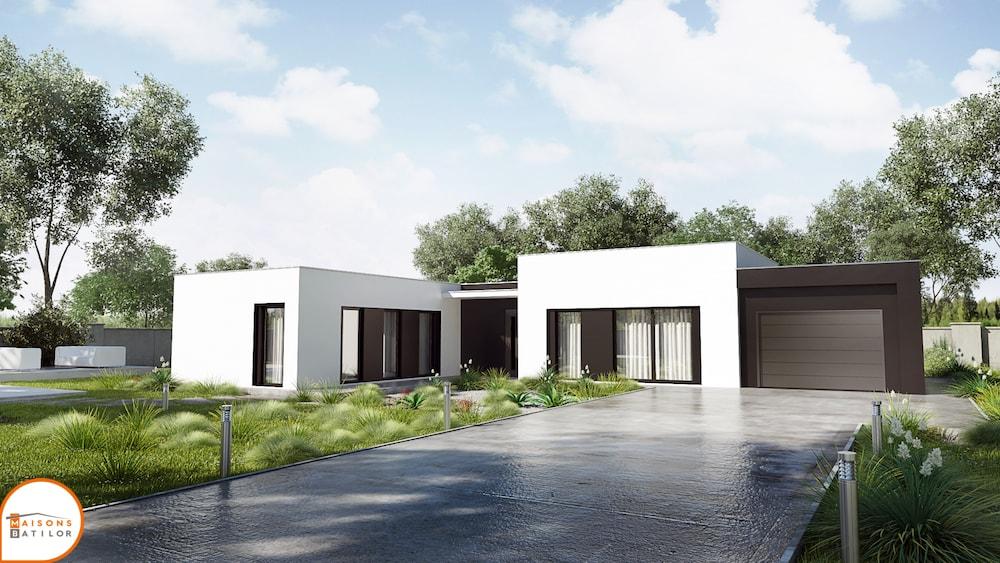 maison moderne plain pied