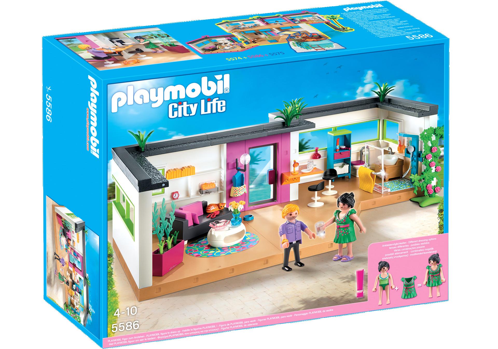 maison moderne playmobil 6389