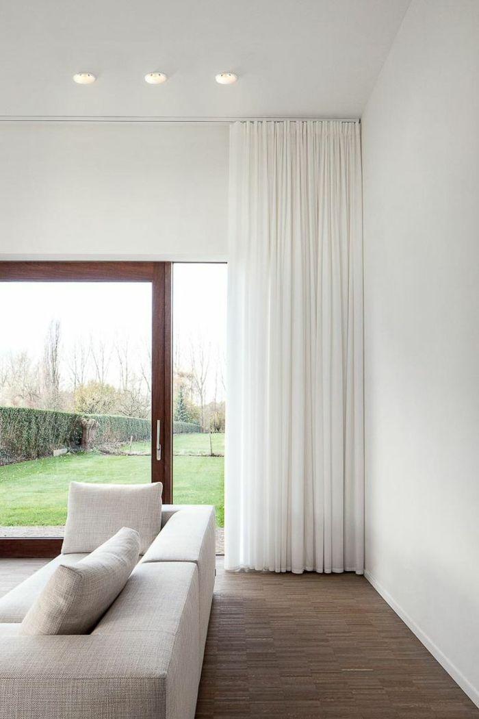 maison moderne rideaux