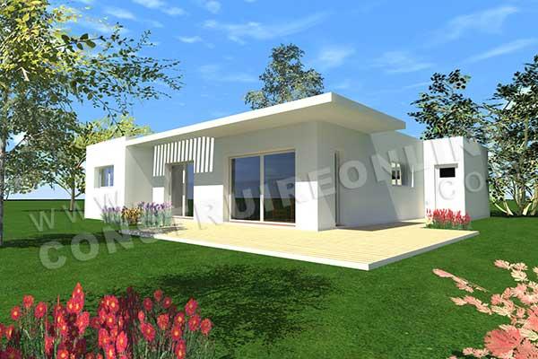 maison moderne sans toit