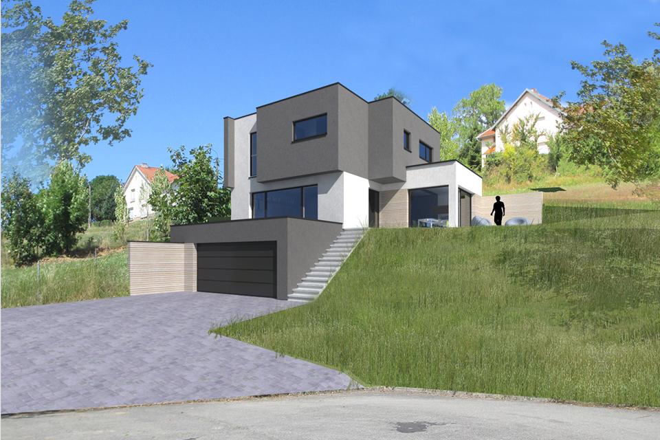 Maison Moderne Sur Terrain En Pente Arf59 Napanonprofits